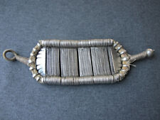 Antique Rajasthan India silver flexible inscribed armlet