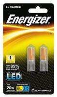 Lot de 2 - Ampoule capsule LED G9 filament 2W remplace 20W 3000K blanc chaud A++