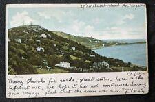 Vintage Killiney Co Dublin Ireland to Canada Real Picture Postcard RPPC Cover
