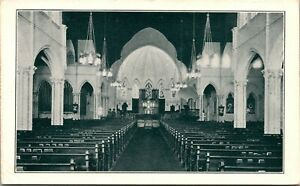 Vtg Christ Church Cathedral Interior New Orleans Louisiana LA Postcard