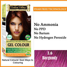 Indus Valley Organically Natural Gel Hair Color Burgundy 3.6 For Hairs