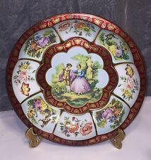 Daher Decorated Ware Tin Scalloped Bowl Gentleman Caller Courtship Floral VTG