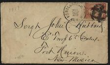 US 1887 RARE MILITARY FORT LEAVENWORTH FANCY CANCEL KANSAS TO FORT UNION NEW MEX