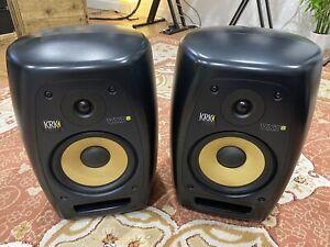 KRK VXT8 Studio Monitors Pair Speakers + Quiklok BS-300 Stands COLLECTION