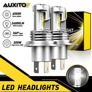 AUXITO XENON WHITE KIT H4 9003 LED High Low Beam Headlight Bulb 6500K 24000LM E2