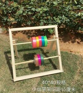 Wooden Spool Ribbon Storage Rack Organizer Craft Wire Holder Stand ( 40*40cm)