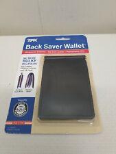 TPK Back Saver Wallet Top Grain Leather NEW Billfold Black USA