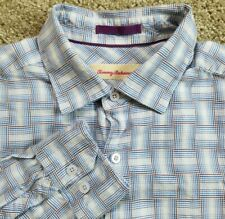 Tommy Bahama Medium Cotton Silk Blend Long Sleeve Shirt Plaid