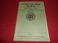 1955 AJS SPRINGTWIN MOTORCYCLE OWNER MAINTENANCE & INSTRUCTION BOOK 55 MANUAL