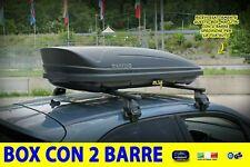Baule Box Tetto Auto con Barre portatutto PEUGEOT 208 2015> 5 PORTE kit porta