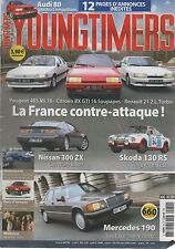 YOUNGTIMERS 50 MERCEDES 190 BX GTI 16S R21 2L TURBO PEUGEOT 405 Mi16 SKODA 130RS