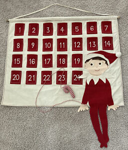 Pottery Barn Kids Christmas Elf Advent Calendar No Monogram 2013
