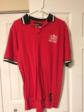 Amsterdam Designs Men's Shirt Casual Polo Red Football Soccer Sports Large XL