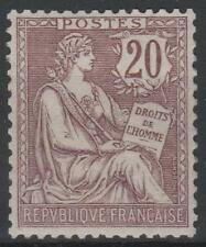 "FRANCE STAMP TIMBRE 126 "" MOUCHON 20c BRUN LILAS 1902 "" NEUF xx LUXE  M577"