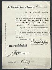 B47-DOCUMENTO ANTIGUO BANCO ESPAÑA MURCIA 1905