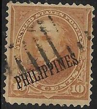 1v0256 Scott PH233 US Possession Stamp 1903 10c Webster Used Philippines