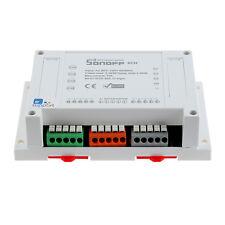 Sonoff 4CH 4 Channel Din Rail Mounting WiFI Wireless Smart Switch APP Remote New