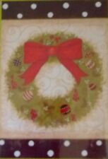 "Christmas Annie's Wreath 29""x43"" Large Suede Reflections Decorative Flag - NEW"
