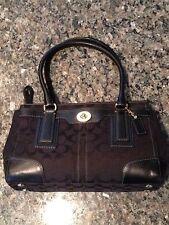 Coach Hampton Signature Carry All Tote Handbag Purse Black D0773 11062 Msrp $298