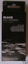 4 Black Compatible IJ Brand Inkjet Cartridges CLI 521