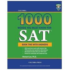 Columbia 1000 Words You Must Know for SAT: Book Two with Answers (Paperback or S