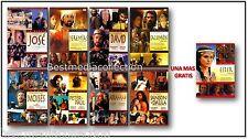 LA BIBLIA La Historia De Jose - Jeremias - Salomon David - Moises DVD NEW 9 PK