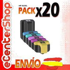 20 Cartuchos de Tinta NON-OEM HP 363XL - Photosmart C8100 Series