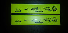 "Knife Edge guards 2pc. 8"" Yellow with flames knife sleeve protector blade covers"