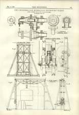 1890 200 Ton Hydraulic Riveting Plant Anderson Gallwey Steam Crane