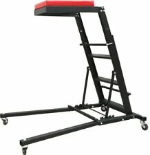 300Lbs Foldable Topside Creeper Adjustable Height Movable Ladder With 4 Wheels