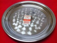 HENGLI CIRCLE Food Serving Platter-Plated Steel Tray 12'' & 1 1/4''(D)New