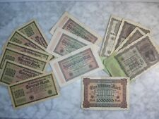 Lot de Billets anciens Allemands Mark Reichsbanknote
