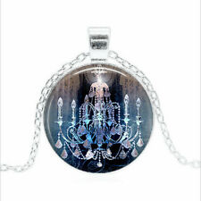 Gothic Chandelier Tibet silver Glass dome Necklace chain Pendant Wholesale