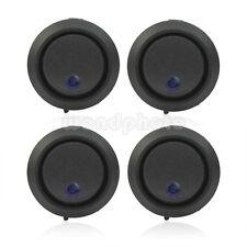4 x Redondo Mini Interruptor Basculante LED Azul 12V DC Buena Venta Práctico