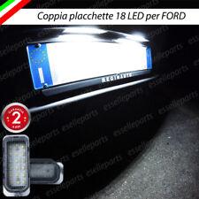 COPPIA PLACCHETTE A LED LUCI TARGA 18 LED FORD MONDEO IV CANBUS NO AVARIA BIANCO