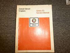Detroit Diesel Allison 2-53 3-53 4-53 6V-53 8V-53N Engine Service Repair Manual