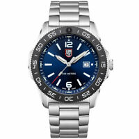 Luminox Men's Watch Pacific Diver Swiss Quartz Blue Dial Silver Bracelet 3123