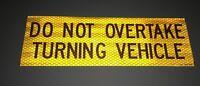 Do Not Overtake Turning Vehicle Sticker for Caravan RV Truck motor  Class 1