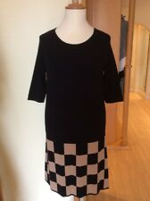 Riani Dress Size 14 BNWT Black And Camel Check RRP £229 Now £103
