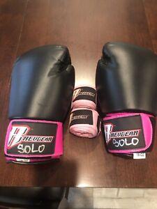 Revgear Pink/Black Boxing Gloves 16oz