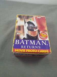 Topps Batman Returns Movie Photo Trading Cards OPEN box. Packs are sealed
