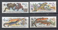 33338) CZECHOSLOVAKIA 1989 MNH** Toads and newts 4v