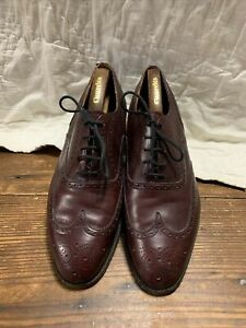 Church's Mens Shoes Burgundy Leather Oxfords Wingtips England Made. 9d