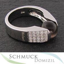"""NEU """"MelanO Silber"""" Ring mit Zirkonias für Kugeln mit 10 mm Durchmesser - Gr. 58"""