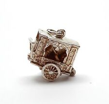 Rare Vintage 925 Sterling Silver PUNCH AND JUDY SHOW TRAILER Charm 6.2g