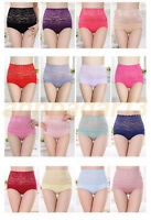 Women Lady Briefs Panties Underwear Lace High Waist Underpants Plus Size XL Hot