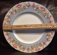 Rare Vtg Syracuse China Restaurant Poppies Poppy 10.75'' Lunch Diner Plate