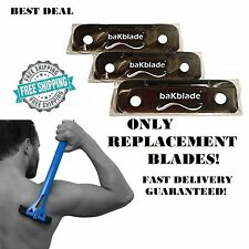 Back Hair Shaver Replacement 3 baKblade BIGMOUTH Blade DIY Man Trimmer Body Trim