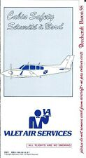 Safety Card - Valet Air Services - Beechcraft Baron 58 - c1997 (S3878)