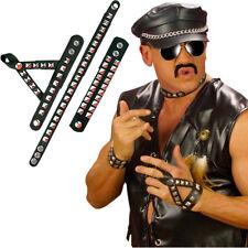 ROCKER NIETEN SET # Halsband Armband Fingerband Biker Punker Kostüm Party 5036